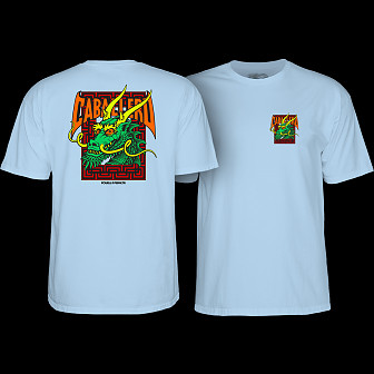 Powell Peralta Steve Cab Street Dragon T-shirt Powder Blue
