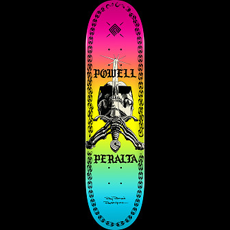 Powell Peralta Skull And Sword Chainz Skateboard Deck Colby - 8.25 x 31.95