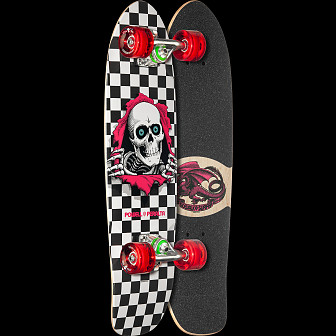 Powell Peralta Sidewalk Surfer Checker Ripper Skateboard Cruiser Assembly - 7.75 x 27.20 WB 14.0