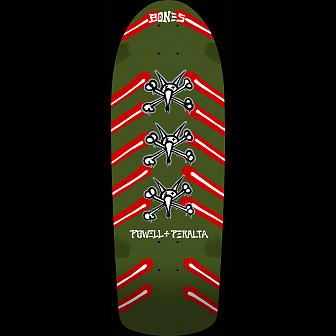 Powell Peralta OG Rat Bones Skateboard Deck Olive Green - 10 x 30