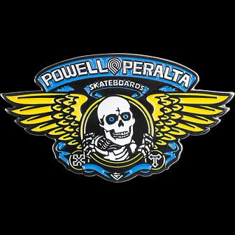 Powell Peralta Winged Ripper Lapel Pin Blue