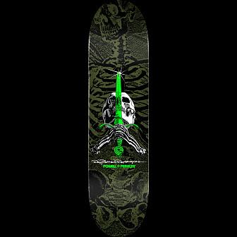 Powell Peralta Skull & Sword Blem Skateboard Deck Green 248 K20 - 8.25 x 31.95