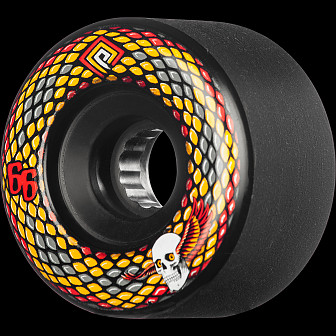Powell Peralta Snakes Skateboard Wheels 66mm 75A 4pk Black