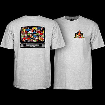 Powell Peralta Bucky Lasek Stadium T-Shirt Athletic Heather