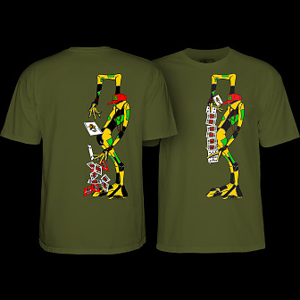 Powell Peralta Ray Barbee Rag Doll T-Shirt Military Green