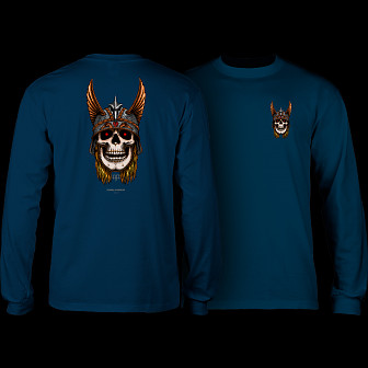 Powell Peralta Andy Anderson Skull L/S Shirt - Navy