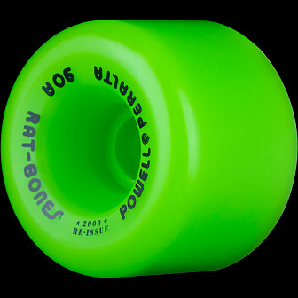 Powell Peralta Rat Bones Skateboard Wheels 60mm 90a - Green (4 pack)