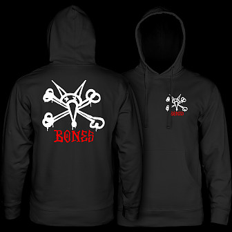 Powell Peralta Rat Bones Hooded Sweatshirt Black