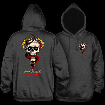 Powell Peralta McGill Skull and Snake Hooded Sweatshirt Charcoal
