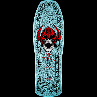 Powell Peralta Welinder Nordic Skull Skateboard Deck Light Blue - 9.625 x 29.75