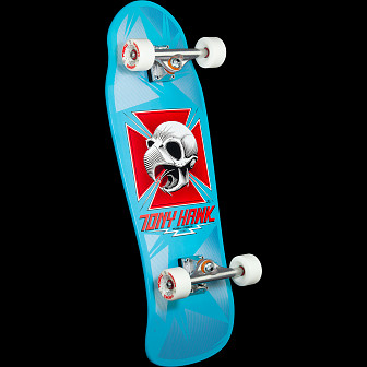 Bones Brigade Tony Hawk Series 9 Skateboard Complete light blue- 10 x 30.05