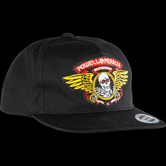 1153c2f8fe9779 Powell Peralta Winged Ripper Patch Snapback Cap Black