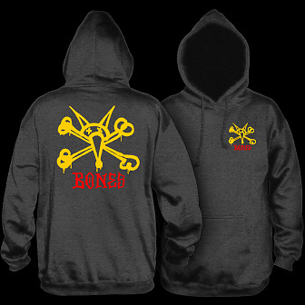 Powell Peralta Rat Bones Hooded Sweatshirt Charcoal