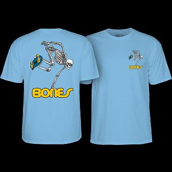 Powell Peralta Skateboarding Skeleton YOUTH T-shirt - Carolina blue