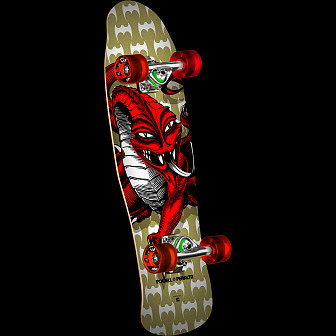 Powell Peralta Mini Cab Dragon Complete - Gold Complete Skateboard - 8 X 29.5