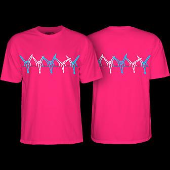 Powell Peralta Rat Band YOUTH T-shirt - Hot Pink