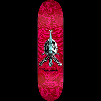 Powell Peralta Skull & Sword Blem Skateboard Deck Pink/Red 249 K20 - 8.5 x 32