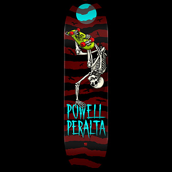 Powell Peralta Handplant Skelly Skateboard Deck Burgundy - Shape 243 - 8.25 x 31.95