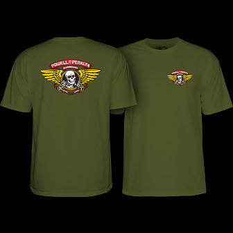 Powell Peralta Winged Ripper T-shirt Military Green