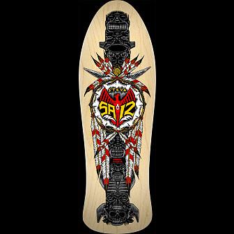 Powell Peralta Steve Saiz Totem Skateboard Deck Natural - 10 x 30.81