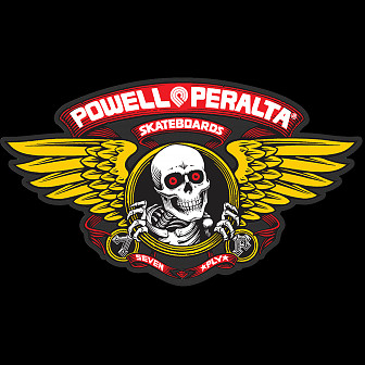 "Powell Peralta Winged Ripper 12"" Die-Cut Ramp Sticker - RED"