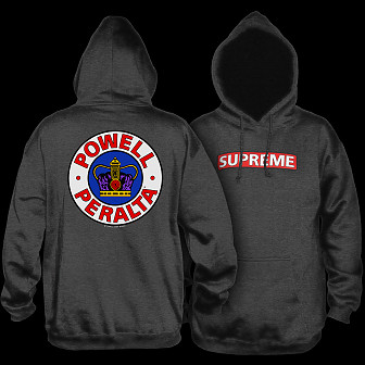 9a4827822df0 Powell Peralta Supreme 2 Hooded Sweatshirt Charcoal