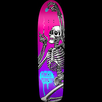 Powell Peralta Funshape Hippie Skeleton 3 Skateboard Deck Pink/Purple - 8.6 x 31.66