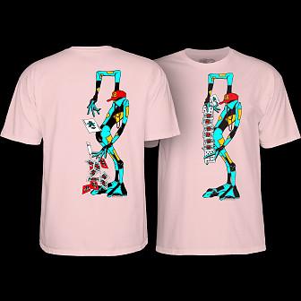 Powell Peralta Ray Barbee Rag Doll T-shirt Light Pink