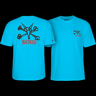 Powell Peralta Rat Bones YOUTH T-shirt - Turquoise