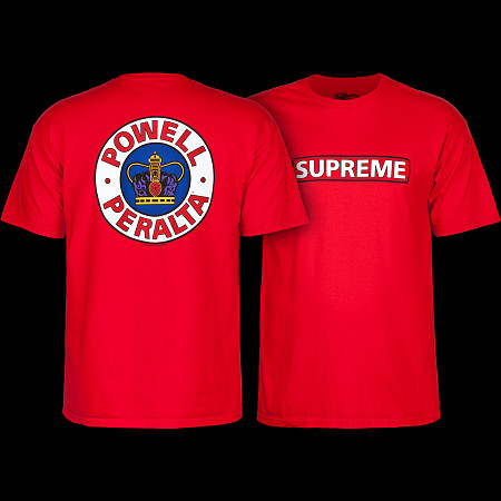 Powell Peralta Supreme T-shirt - Red - Powell-Peralta® 71b04ff76