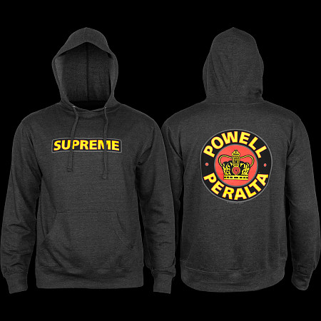 d43ac380f2ab Powell Peralta Supreme Hooded Sweathsirt Charcoal - Powell-Peralta®