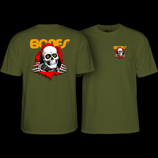 Powell Peralta Ripper T-shirt - Military Green