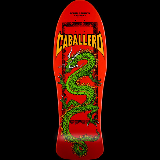 Powell Peralta Steve Caballero Chinese Dragon Red Skateboard Deck - 10 x 30