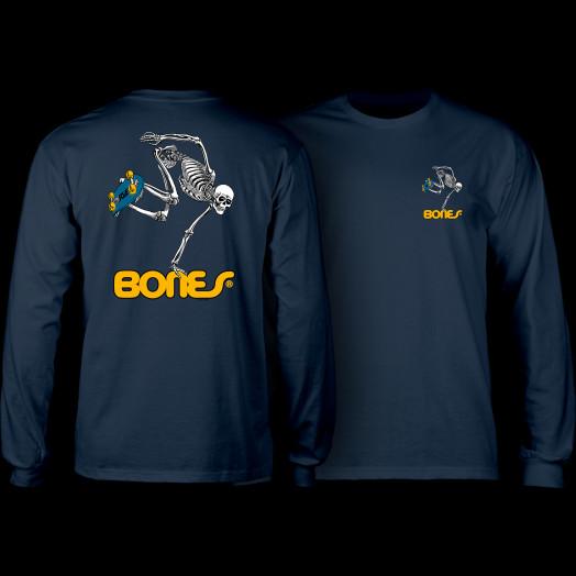 Powell Peralta Skateboarding Skeleton L/S Shirt Navy