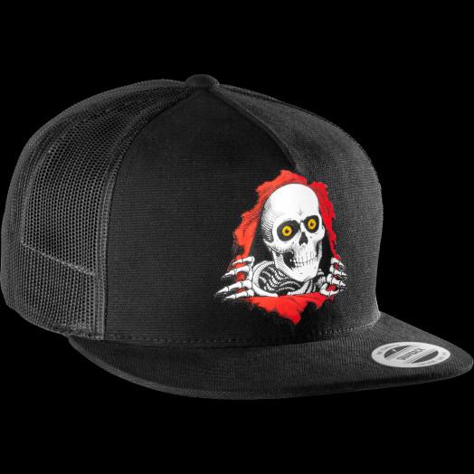 Powell Peralta Ripper Mesh Snap Back Cap - Black