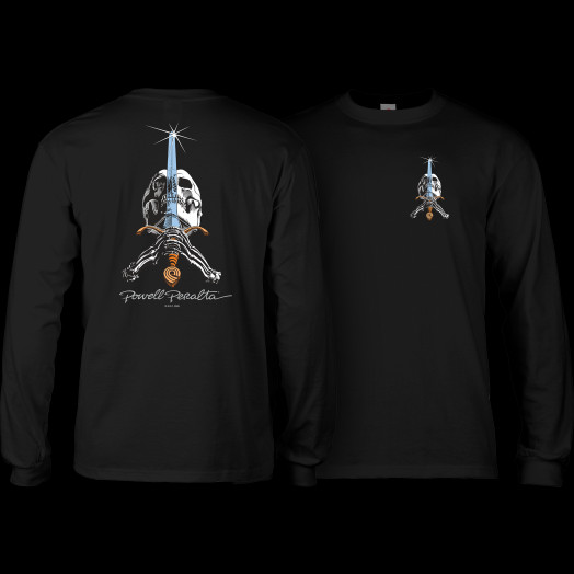 Powell Peralta Skull and Sword L/S T-shirt Black