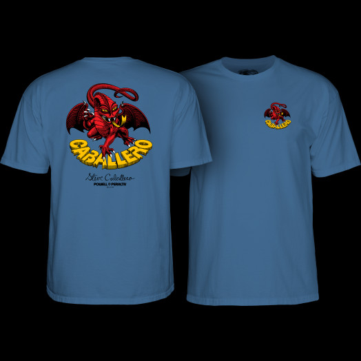 Powell Peralta Steve Caballero Dragon T-Shirt Slate Blue