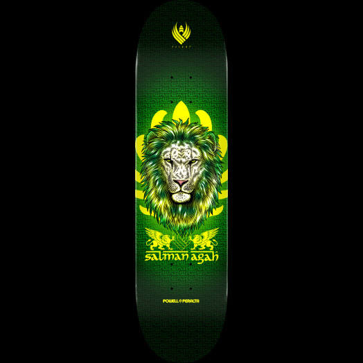 Powell Peralta Pro Salman Agah Lion Flight® Skateboard Deck - Shape 245 - 8.75 x 32.95