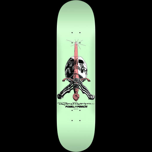 Powell Peralta Skull and Sword Skateboard Deck Pastel Green 246 K21 - 9.05 x 32.95