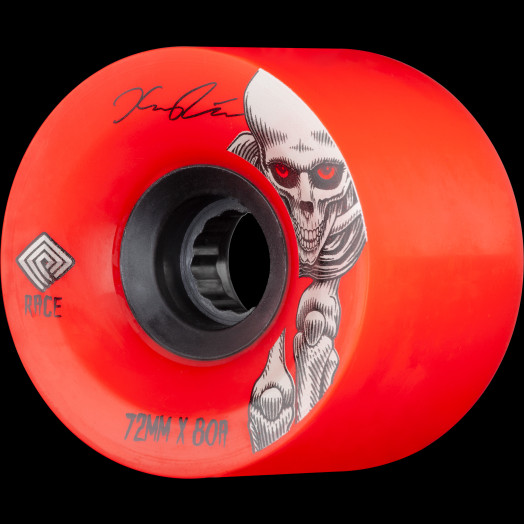Powell Peralta Pro Kevin Reimer Downhill Skateboard Wheels Red 72mm 80A 4pk