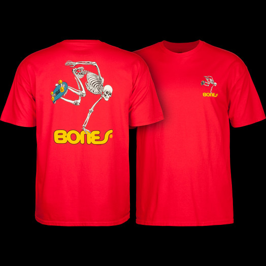 Powell Peralta Skateboarding Skeleton YOUTH T-shirt - Red