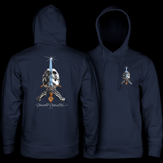 Powell Peralta Skull & Sword Hooded Sweatshirt Navy