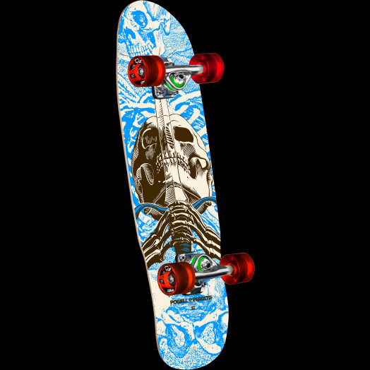 Powell Peralta Mini Skull & Sword Blue Complete Skateboard - 8 x 30