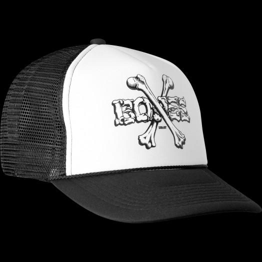 Powell Peralta Cross Bones Trucker Cap - Black/White
