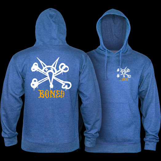 Powell Peralta Rat Bones Midweight Hooded Sweatshirt - Royal Heather