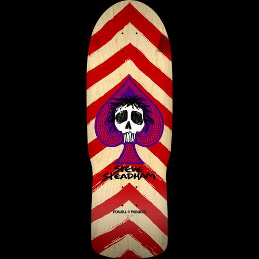 Powell Peralta Steadham Spade Skateboard Deck Red/Nat - 10 x 30.125