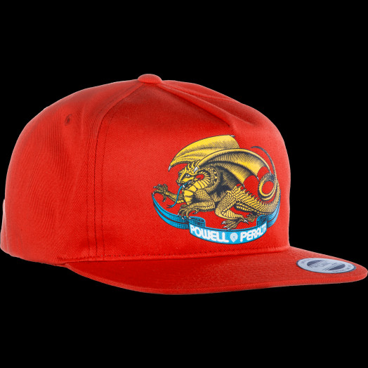 Powell Peralta Oval Dragon Snap Back Cap Red