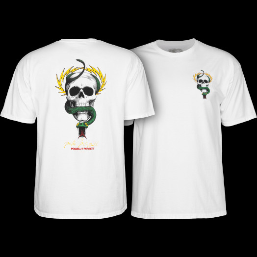 Powell Peralta Mike McGill SKULL AND SNAKE Skateboard T Shirt BLACK XL