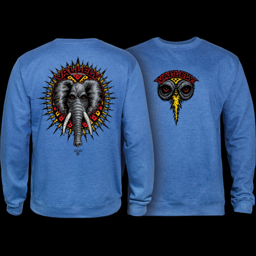 Powell Peralta Mike Vallely Elephant Crew Sweat Shirt Mid Weight Royal Heather