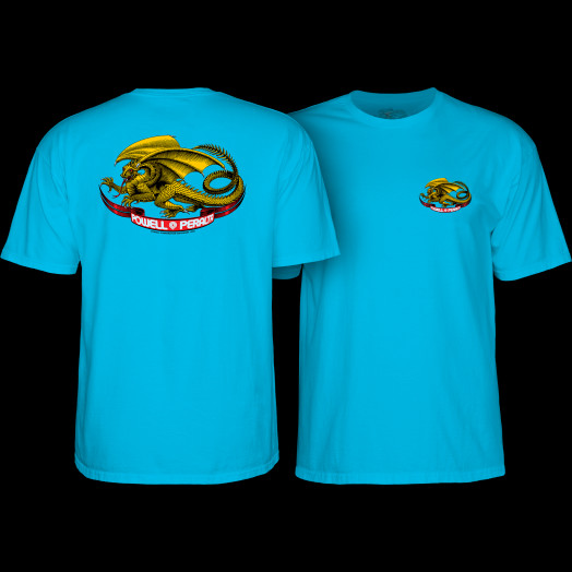 Powell Peralta Oval Dragon Youth T-Shirt Turquoise